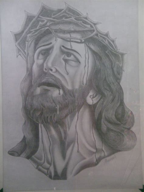 imagenes a lapiz del rostro de jesus rostro de cristo a lapiz sobre cascaron de huevo rostros