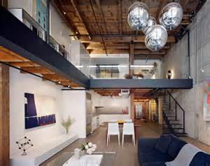 Warehouse Appartment by Warehouse In San Francisco Converted Into Contemporary