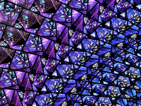 Stained Glass Purple blue and purple stained glass fractal by kirstenstar on