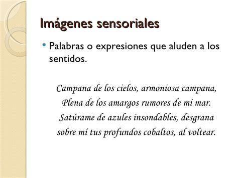 imagenes sensoriales personificacion la poes 237 a y su significaci 243 n
