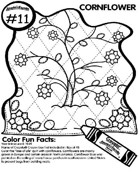 crayola coloring pages flowers no 11 cornflower coloring page crayola com