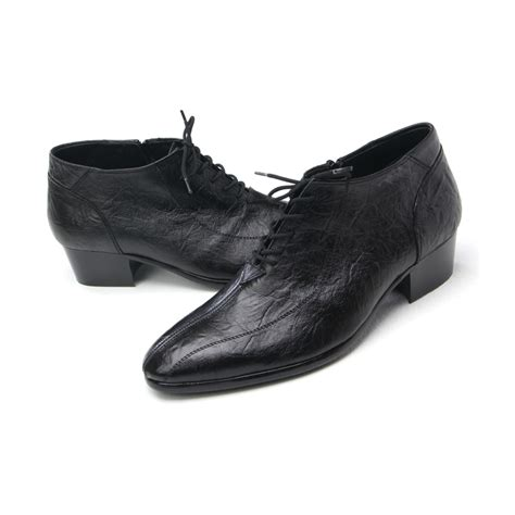 mens chic vintage real leather toe line stitch lace