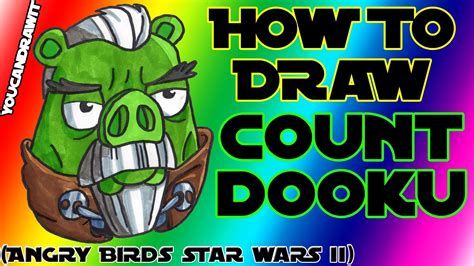 angry birds wars doodle activity annual 2013 how to draw count dooku pig from angry birds wars 2