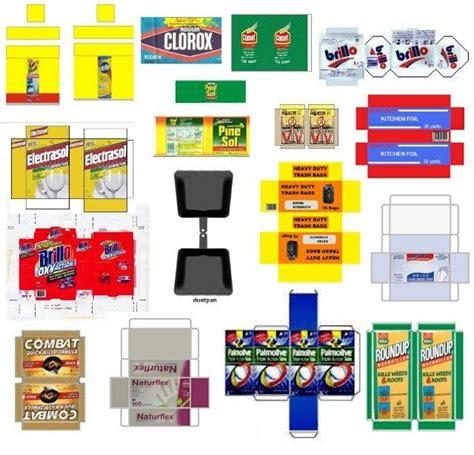 miniaturas e dollhouse miniature printables cleaning supplies v crafts