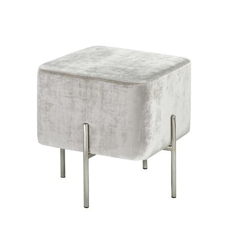 grey velvet ottoman kube grey velvet ottoman s xcella