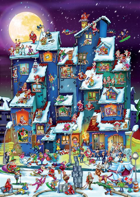 christmas antics cartoon puzzle outset media games