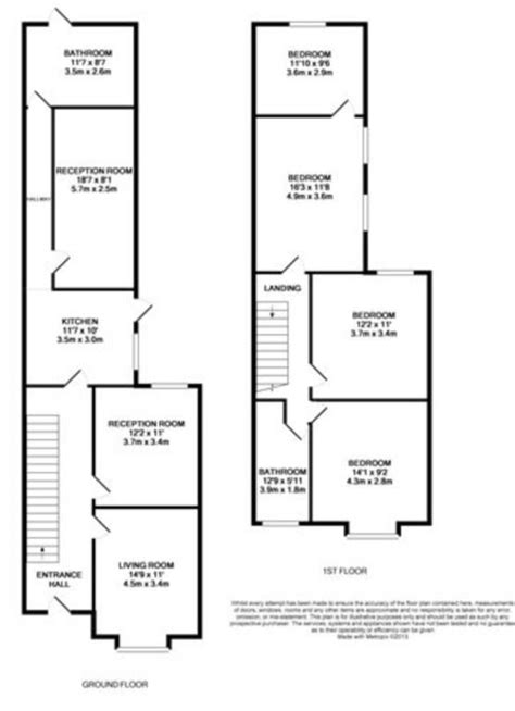two bedroom house map