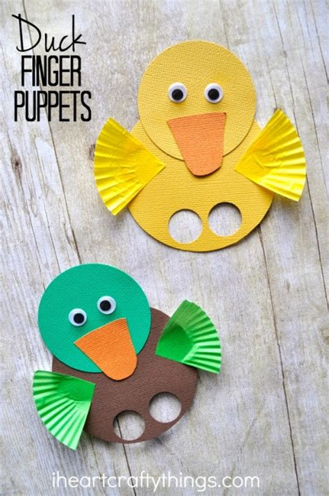 duck craft for adorable duck finger puppets i crafty things