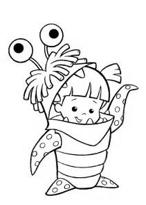kids under 7 monsters inc coloring pages