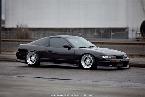 slammed nissan s13 hatch with front end conversion 240sx