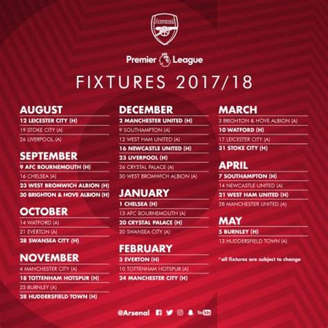arsenal xmas fixtures full arsenal fixture list confirmed 2017 18 just arsenal