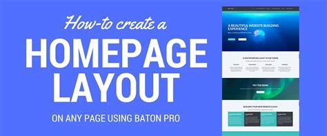 wordpress homepage layout plugin baton wordpress theme baton landing page layout note