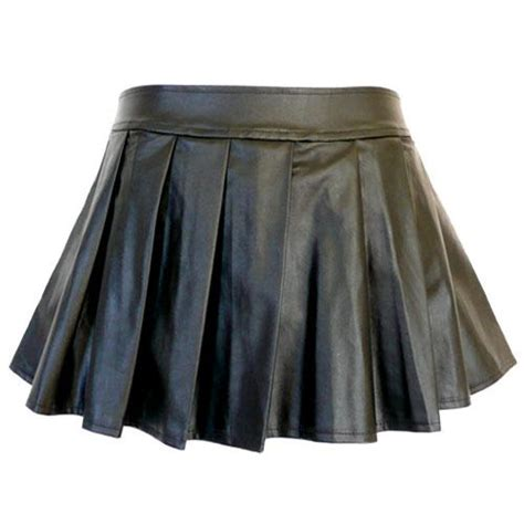 pb13 2xl 4xl 6xl 8xl plus size faux leather pleated