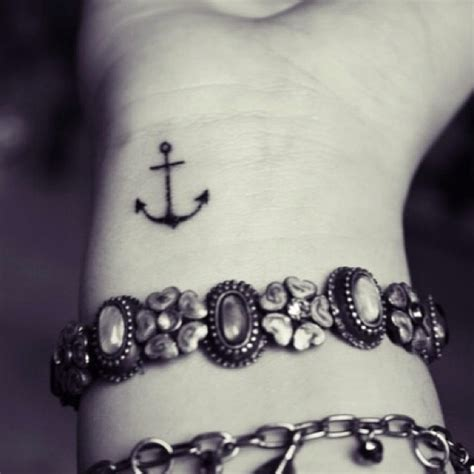 small tattoo anchor attractive small anchor on wrist