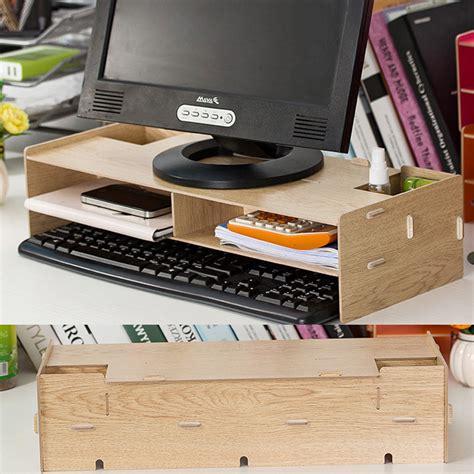 diy desk storage new desk storage wood diy increase computer display