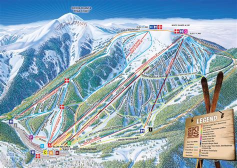 map of us ski area ski apache piste map j2ski