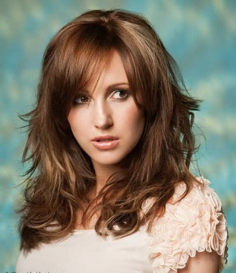 long layers with bangs hairstyles for 2015 for regular people medium layered haircuts with bangs 2015