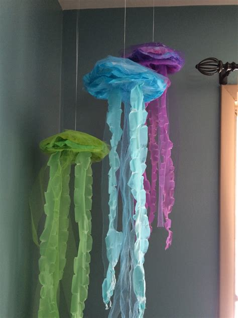 how to make fake bubbles for decoration jellyfish hanging decor guppies the sea mermaid