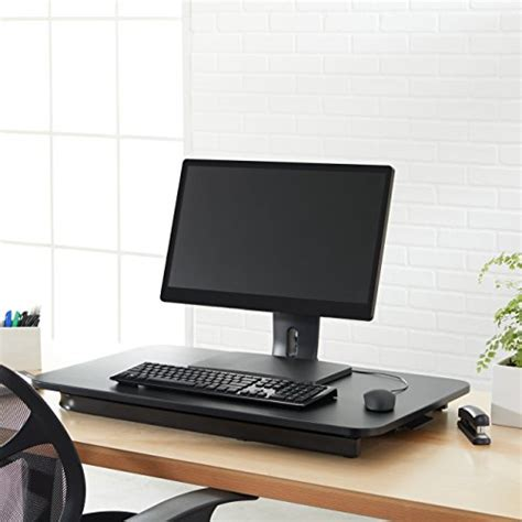 amazon sit stand desk amazonbasics height adjustable sit stand desk converter