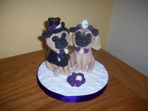 pug and groom personalised and groom wedding cake toppers sandies cakes and toppers of blackpool