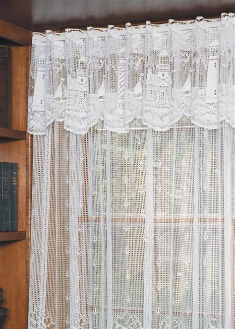 Lighthouse Window Curtains Lighthouse Valance Heritage Lace Coastal Collection 6140w 6015 Lace Curtain Store