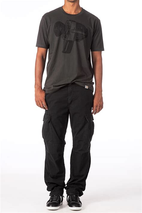 Cargo Pant Black 1 carhartt slim cargo pant in black for lyst