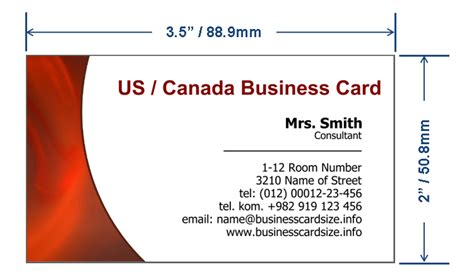 How Big Is A Standard Business Card