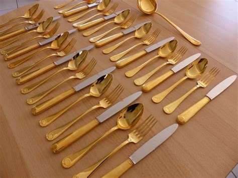 Caillat Set 37 gold plated cutlery set coquille model caillat and bellier 1919 catawiki