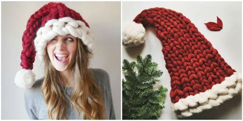 design own xmas hat this chunky knit santa hat will be the coziest thing you wear all winter aston designs