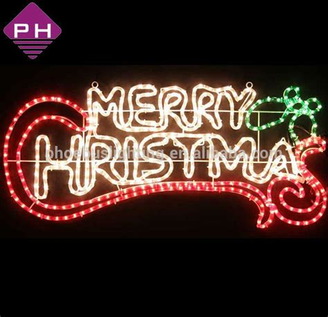 outdoor lighted christmas signs merry christmas motif