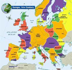 14th Century Middle Ages Europe Map links amp maps sangreality now 2017