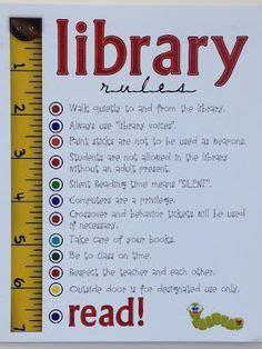 Printable Library Poster | library rules poster set library rules poster library
