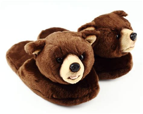 bear house shoes brown teddy bear slippers noveltyslippers com