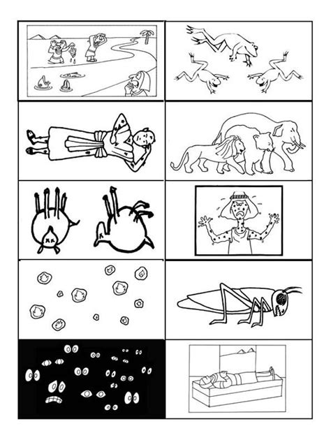 coloring pages ten plagues egypt 10 plagues printable don t understand why the fourth