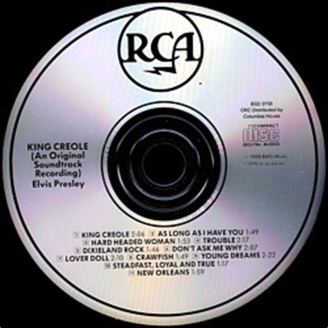columbia house music cds king creole canada 1995 columbia house music cd club bmg bg2 3733 elvis presley cd