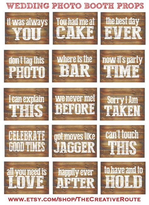 diy wooden signs with sayings with free cut file leap wedding photo booth props printable rustic funny diy wedding