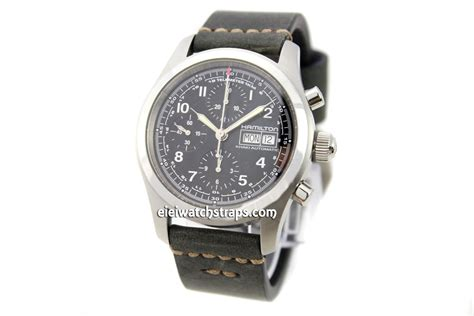 Handmade Leather Watches - 22mm handmade aged back genuine leather for