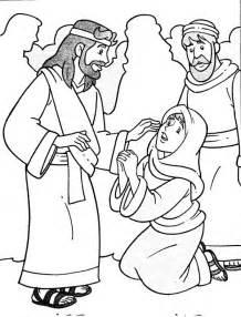 coloring page jesus heals bleeding jesus heals sick coloring page coloring pages for free
