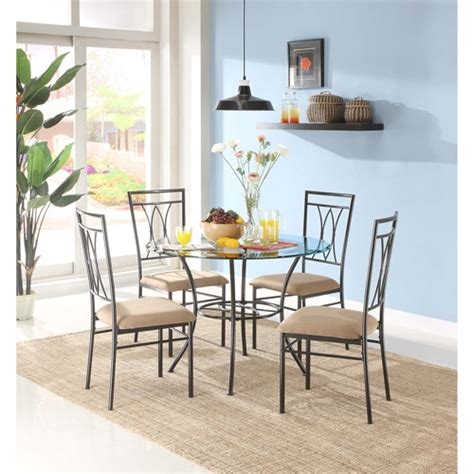 walmart dining room sets get the mainstays 5 dining set for less at walmart
