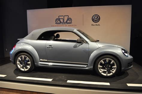 Vw Beetle New York Auto Show by Image Volkswagen Beetle Convertible Denim Concept Live