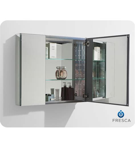 30 inch wide mirrored medicine cabinet fresca fmc8090 30 quot wide bathroom medicine cabinet with