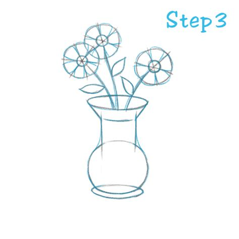 How To Draw Flowers In A Vase by Flower Vases Drawing