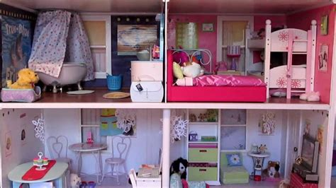 my american girl doll house tour winter ag dollhouse tour youtube