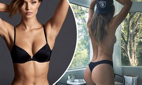 shes wearing a thong josephine skriver displays pert posterior in only a thong