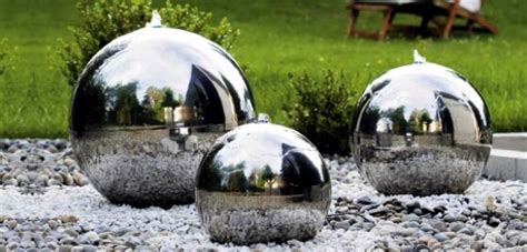 Sphere Fountain Modern Landscape » Home Design 2017