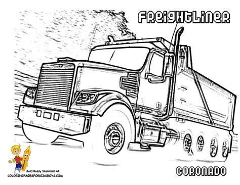 Freightliner Logo Colouring Pages Peterbilt Coloring Pages