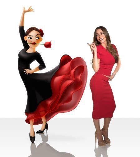 dancing emoji sofia vergara in emoji movie see her flamenco dancer