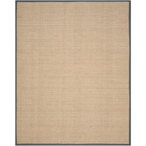Seagrass Area Rug Nuloom Elijah Seagrass With Border Beige 8 Ft X 10 Ft Area Rug Bhsg01a 8010 The Home Depot