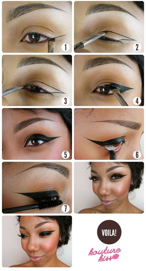 tutorial for top eyeliner strong winged eyeliner tutorial alldaychic