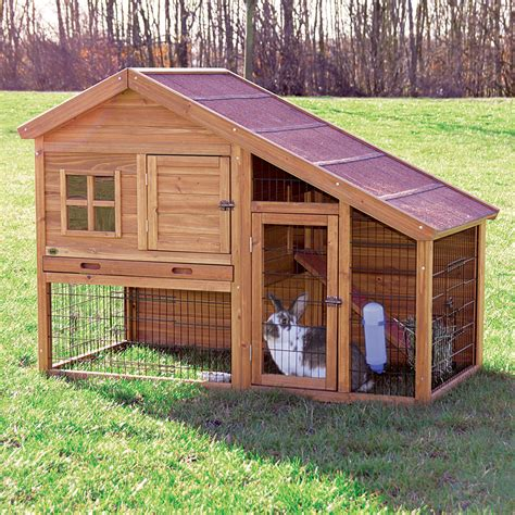 Hutch Of Rabbits Trixie Rabbit Hutch With A View Rabbit Cages Hutches